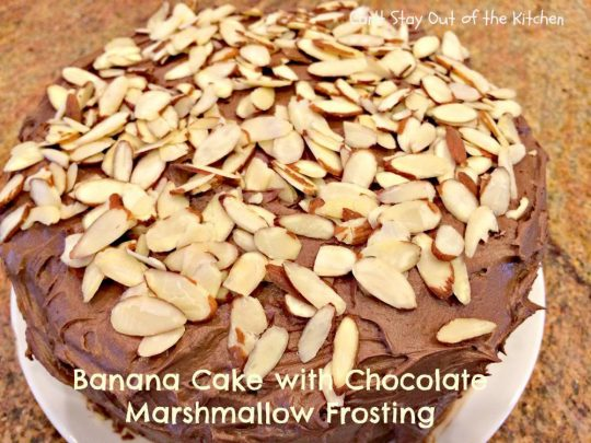 Banana Cake with Chocolate Marshmallow Frosting - IMG_6350.jpg
