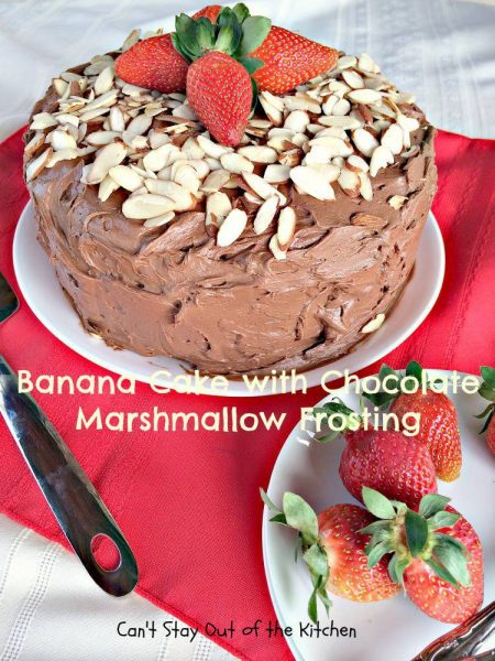 Banana Cake with Chocolate Marshmallow Frosting - IMG_6355.jpg