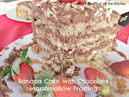 Banana Cake with Chocolate Marshmallow Frosting - IMG_6449.jpg