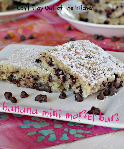 Banana Mini Morsel Bars - IMG_6525.jpg