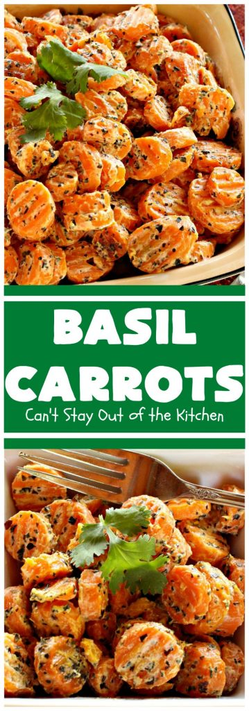 Basil Carrots | Can't Stay Out of the Kitchen