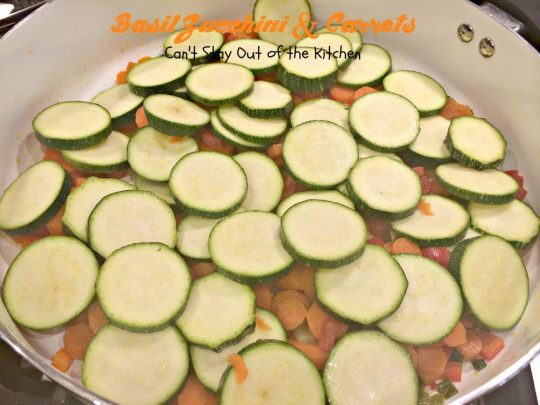 Basil Zucchini and Carrots | Can't Stay Out of the Kitchen | tasty #veggie #sidedish with #zucchini and #carrots. #glutenfree