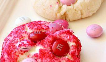 Be My Valentine M&M Cookies