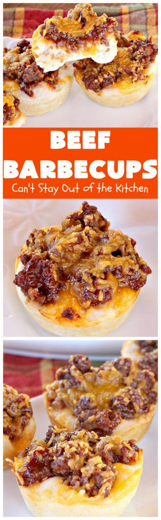 Beef Barbecups | Can't Stay Out of the Kitchen