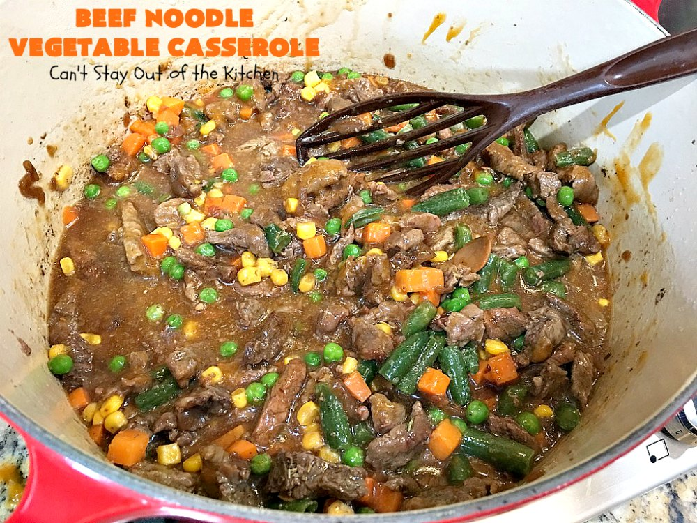 beef noodle vegetable casserole  50b55  can't stay out
