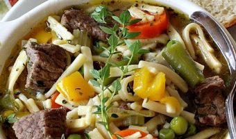 Beef Noodle Vegetable Soup