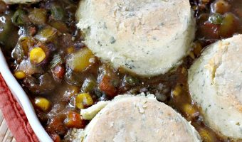 Beef Pot Pie With Herbed Biscuits