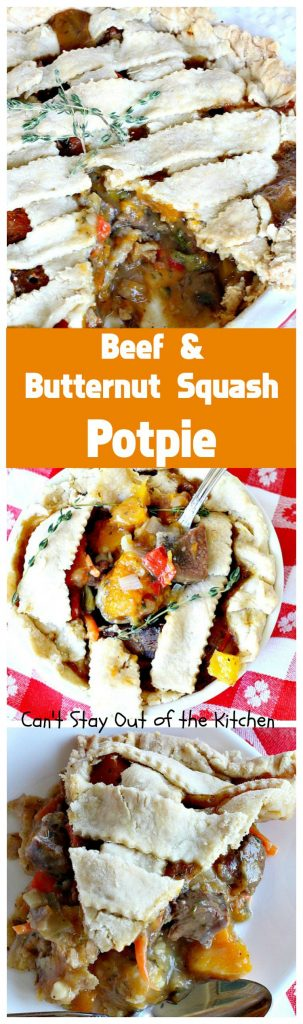 Beef and Butternut Squash Potpie | Can't Stay Out of the Kitchen