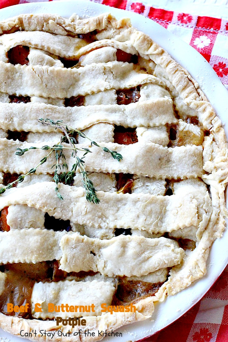Beef and Butternut Squash Potpie - Can\'t Stay Out of the Kitchen
