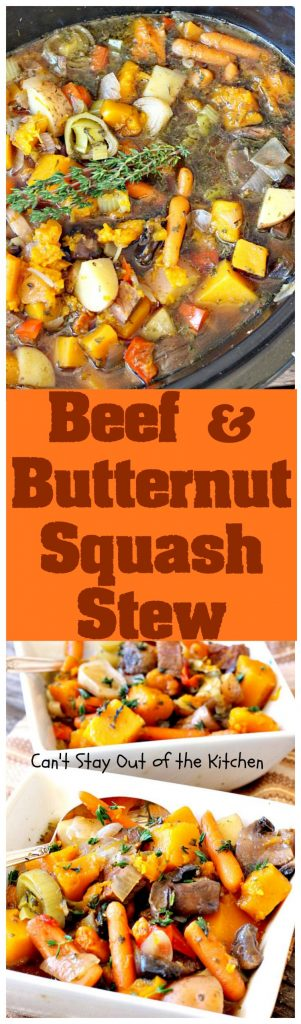 Beef and Butternut Squash Stew | Can't Stay Out of the Kitchen