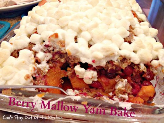 Berry Mallow Yam Bake - Holiday Dinners 218