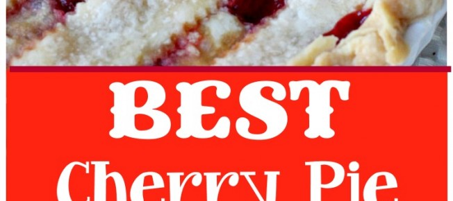 BEST Cherry Pie | Can't Stay Out of the Kitchen | this is the BEST #cherrypie ever! Almond extract and tart #cherries combine for the most scrumptious #dessert you'll ever bake.