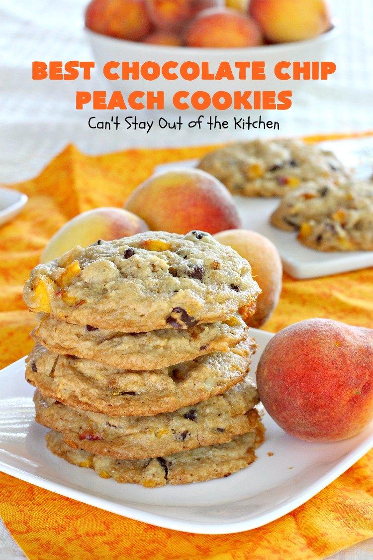 Best Chocolate Chip Peach Cookies