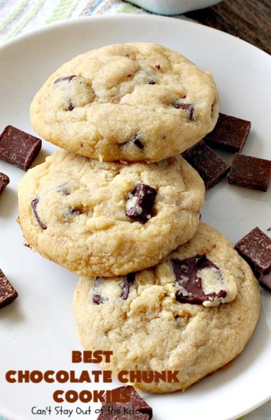 Best Chocolate Chunk Cookies | Can't Stay Out of the Kitchen | these outrageous #cookies start with a #copycat recipe for #MrsFields cookies & use loads of #chocolate chunks. They're heavenly. #dessert #tailgating