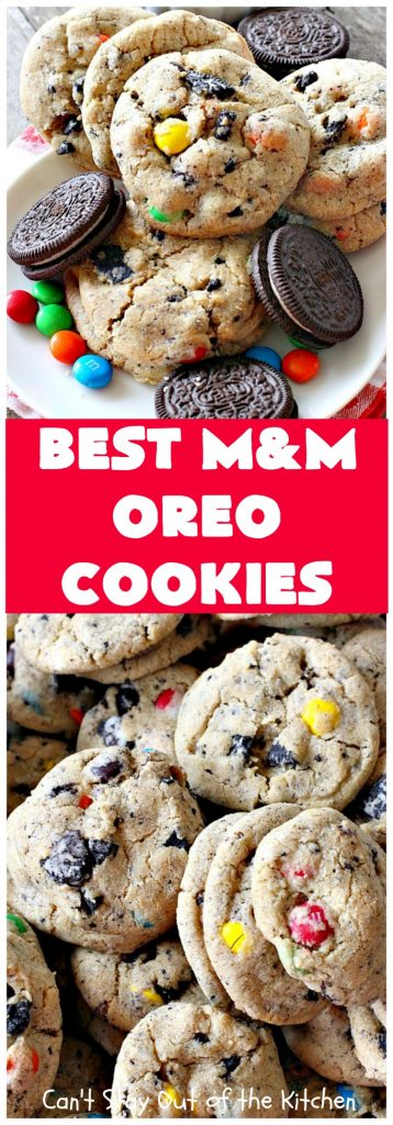 Best M&M Oreo Cookies | Can't Stay Out of the Kitchen