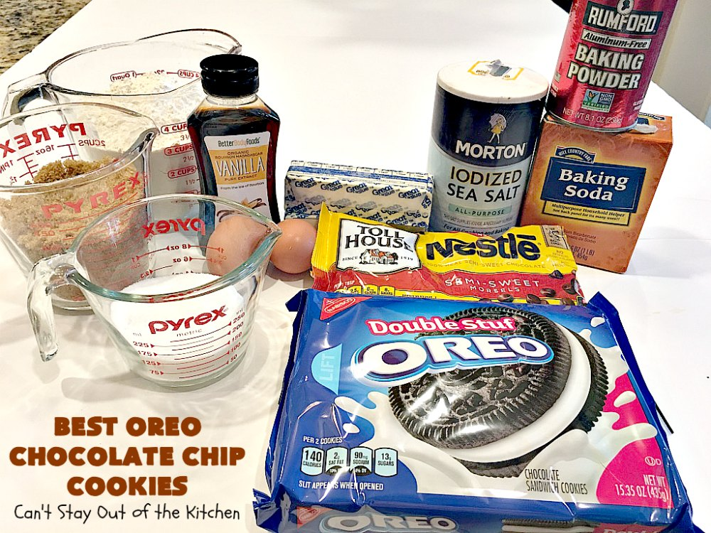Best Oreo Chocolate Chip Cookies - Can't Stay Out of the ...
