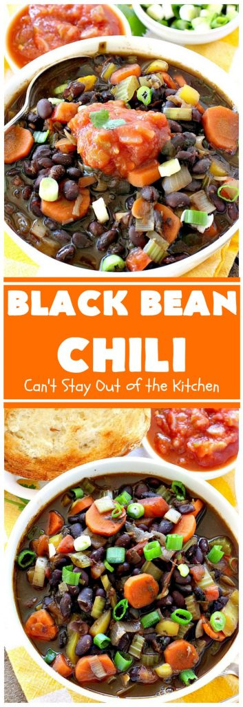 Black Bean Chili | Can't Stay Out of the Kitchen