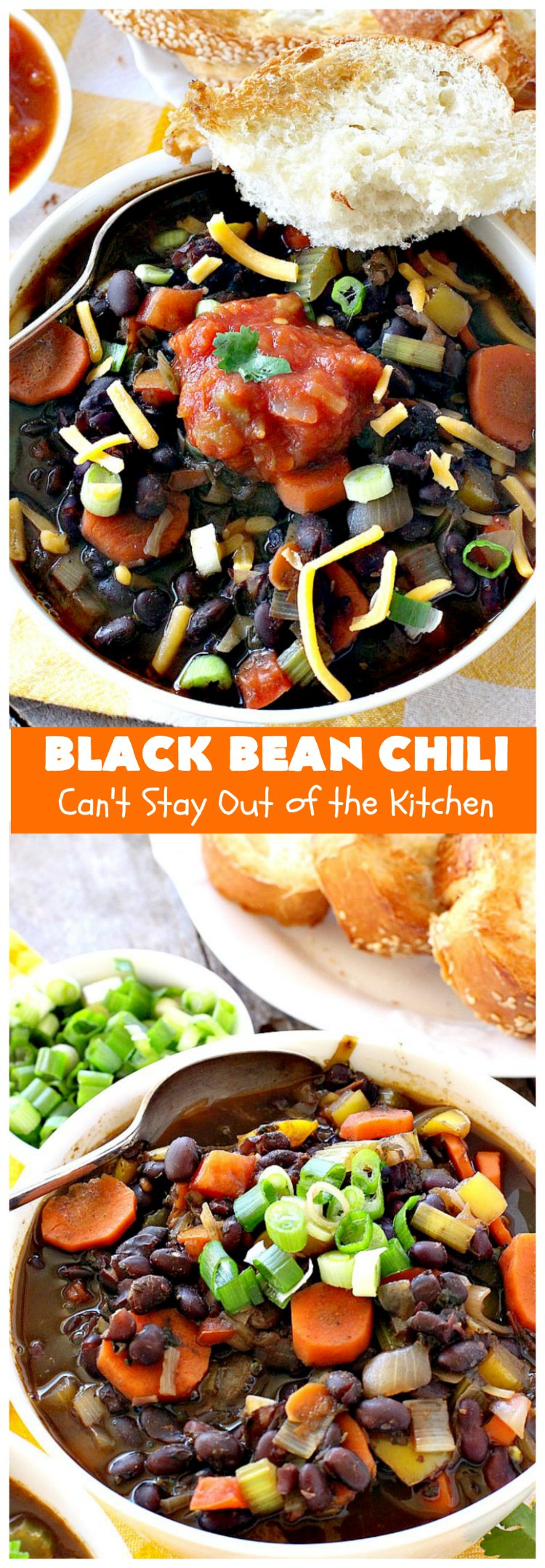 Black Bean Chili | Can't Stay Out of the Kitchen | fabulous #BlackBean #chili #recipe that's perfect for cold, winter days. It's healthy, #vegan, #GlutenFree & #CleanEating. #TexMex #soup #MeatlessMondays #BlackBeanChili