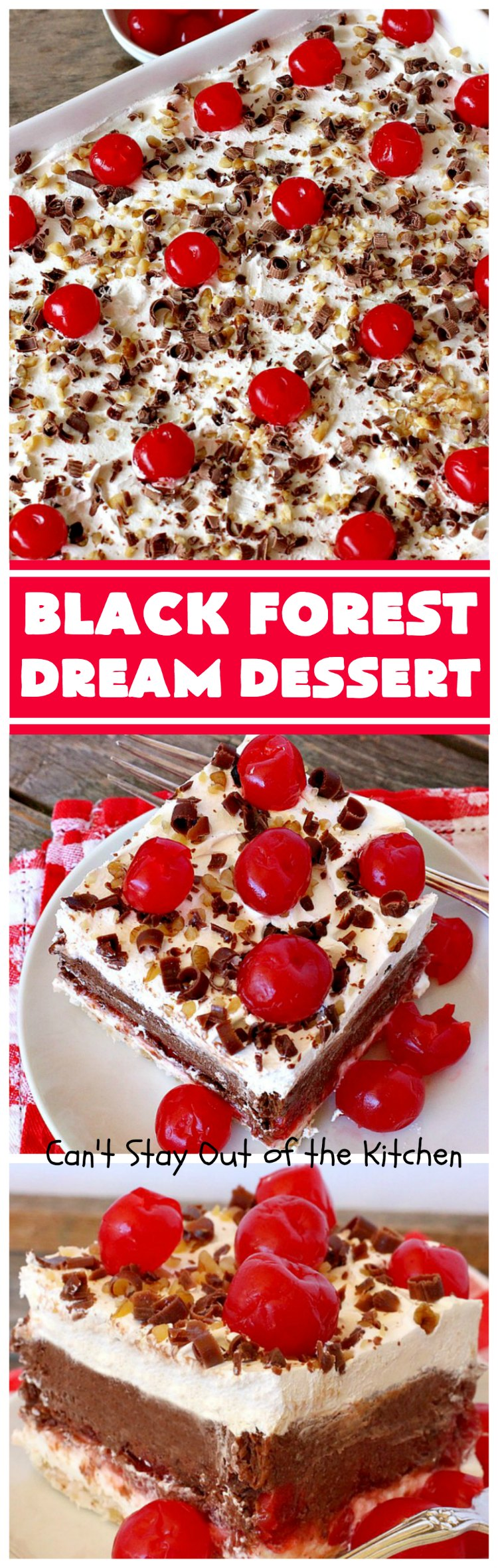 Black Forest Dream Dessert | Can't Stay Out of the Kitchen