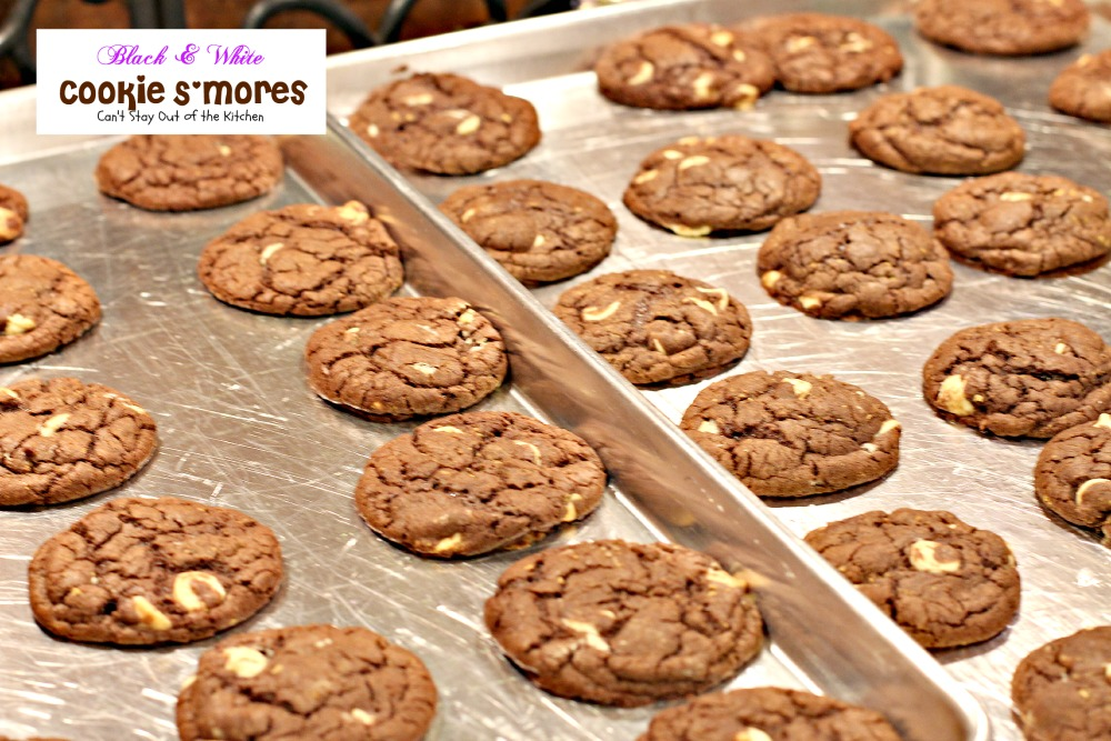 Black and White Cookie S'Mores   Can't Stay Out of the Kitchen ...