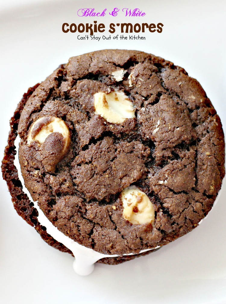 Black and White Cookie S'mores - Can't Stay Out of the Kitchen