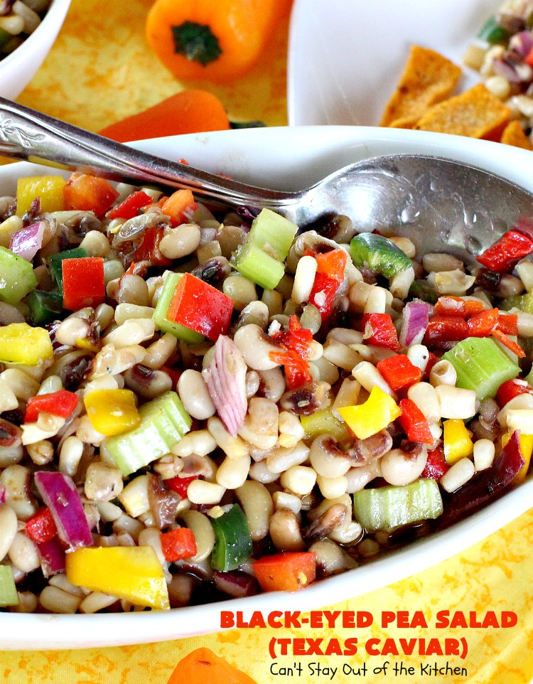 Black-Eyed Pea Salad (Texas Caviar) - Can't Stay Out of ...