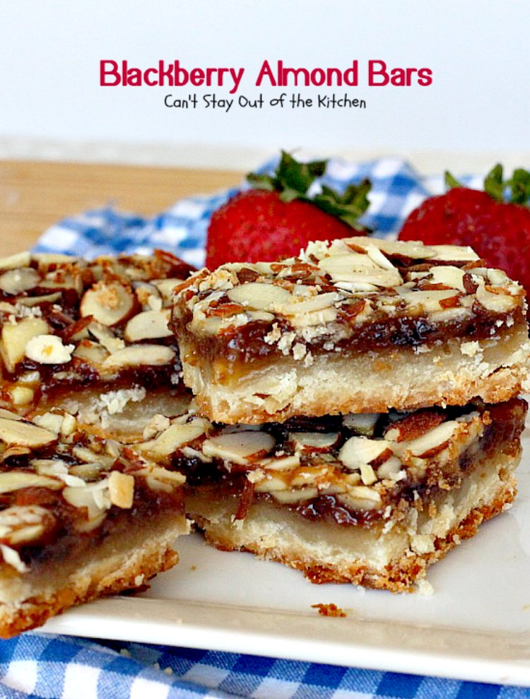 Blackberry Almond Bars | Can't Stay Out of the Kitchen | Your family ...