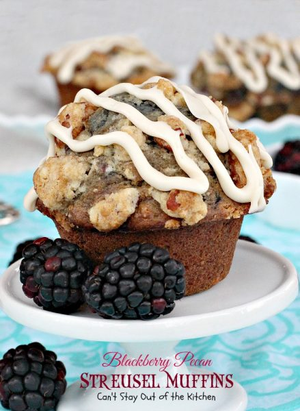 Blackberry Pecan Streusel Muffins | Can