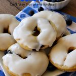 Blueberry Almond Donuts | Can't Stay Out of the Kitchen | these fabulous #blueberry #donuts include #almond extract in both the donut and the icing. They are outrageously delicious! I've made these 3 times & everyone always loves them. #blueberries #BlueberryDonuts #breakfast #Holiday #HolidayBreakfast