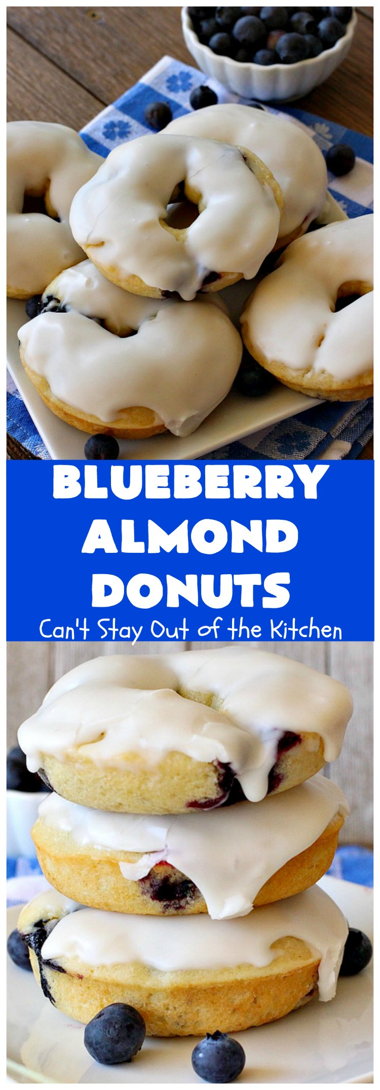 Blueberry Almond Donuts | Can't Stay Out of the Kitchen