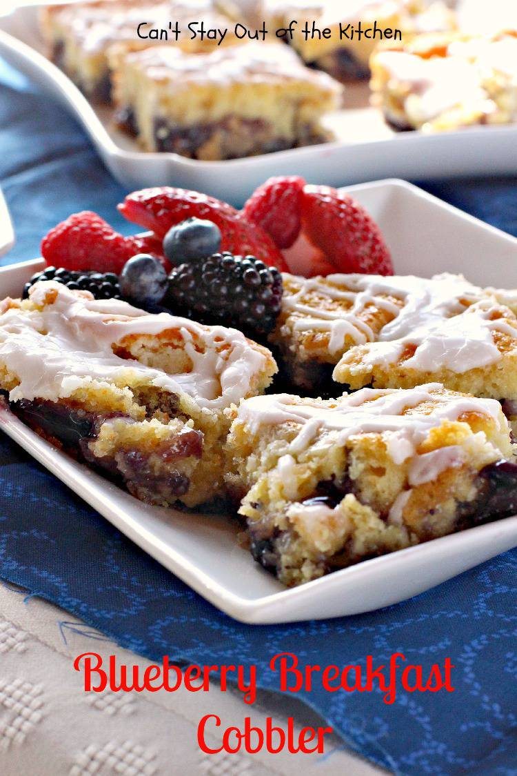 Blueberry Breakfast Cobbler Can T Stay Out Of The Kitchen
