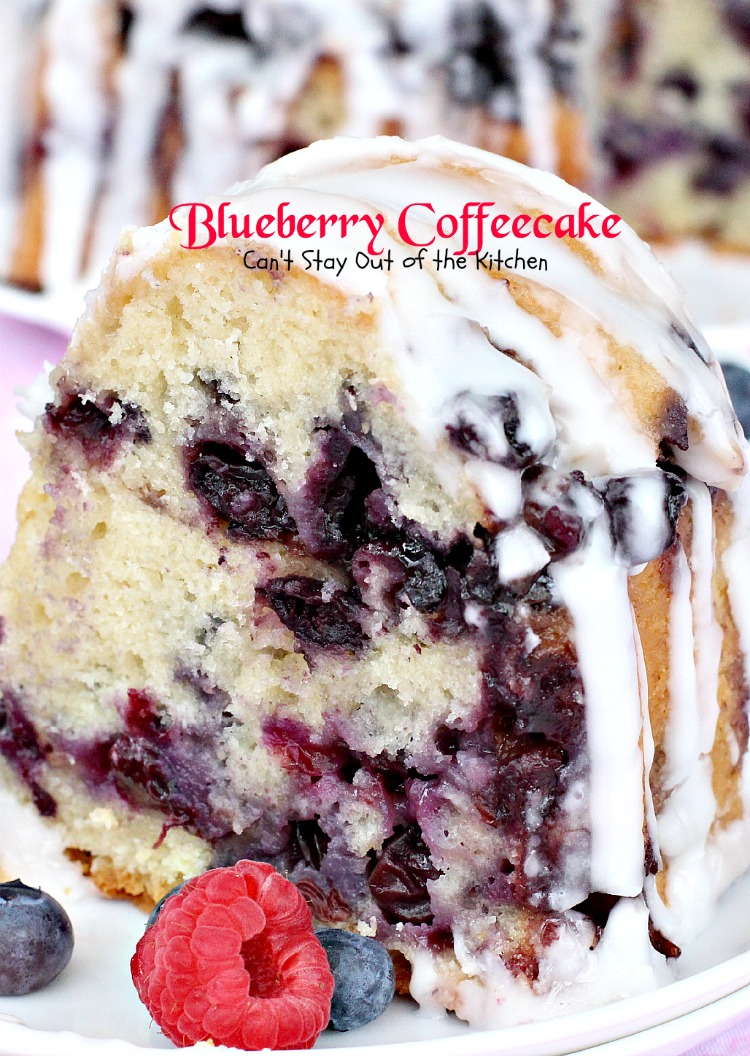 Blueberry Coffeecake | Can't Stay Out of the Kitchen | our favorite #coffeecake. This one is loaded with #blueberries and has a #cinnamon streusel in between layers. Great for a #holiday #breakfast. #dessert