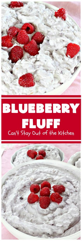 Blueberry Fluff | Can't Stay Out of the Kitchen