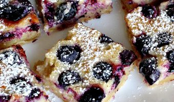 Blueberry Gooey Butter Cake Bars