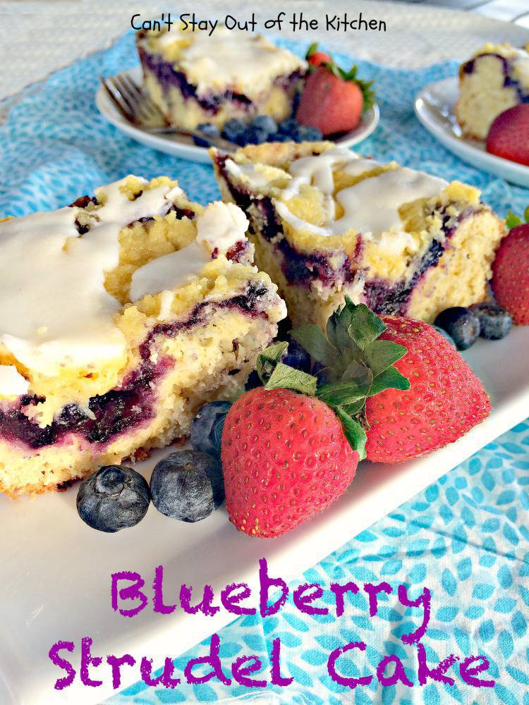 Blueberry Strudel With Cake Mix