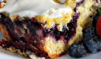 Blueberry Strudel Cake