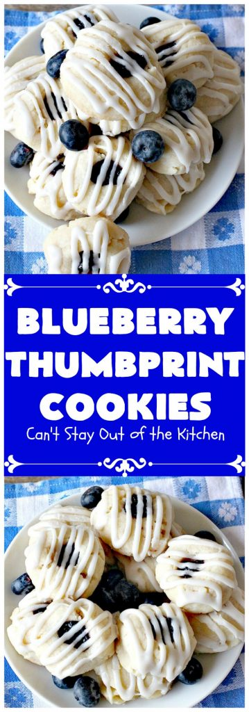 Blueberry Thumbprint Cookies | Can't Stay Out of the Kitchen