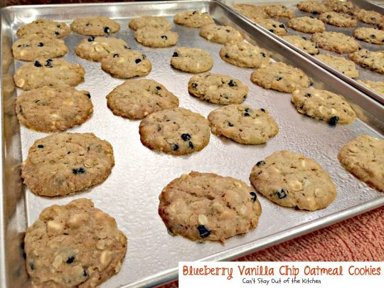 Blueberry Vanilla Chip Oatmeal Cookies | Can't Stay Out of the Kitchen ...