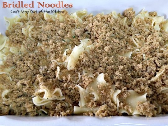 Bridled Noodles | Can't Stay Out of the Kitchen| delicious #Amish #casserole that's so quick and easy to make. It's wonderful served for #holiday dinners or any time you want #noodles as a side dish.