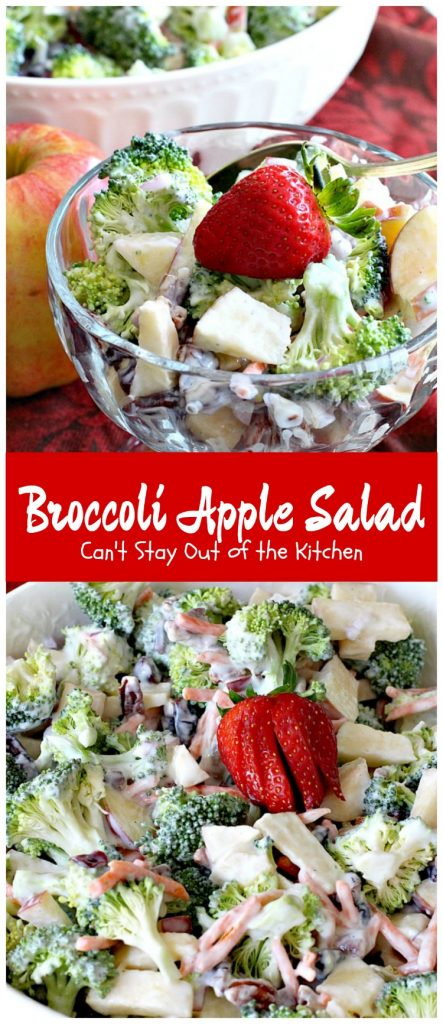 Broccoli Apple Salad | Can't Stay Out of the Kitchen