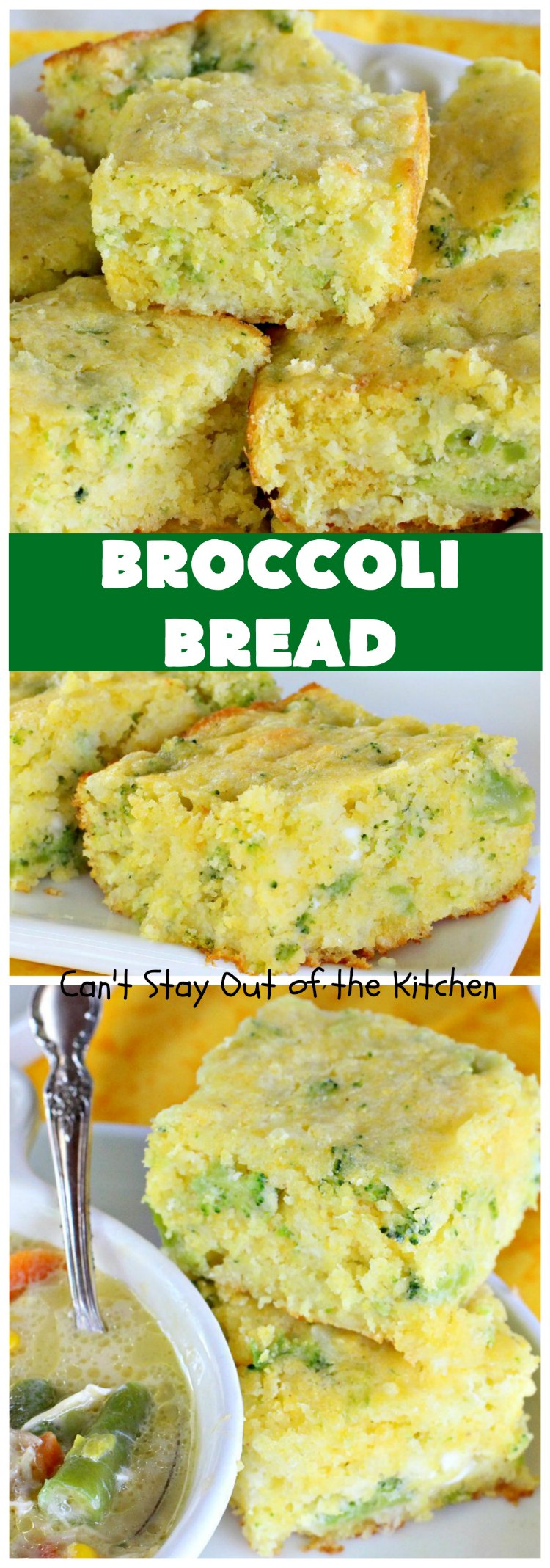 Broccoli Bread | Can't Stay Out of the Kitchen
