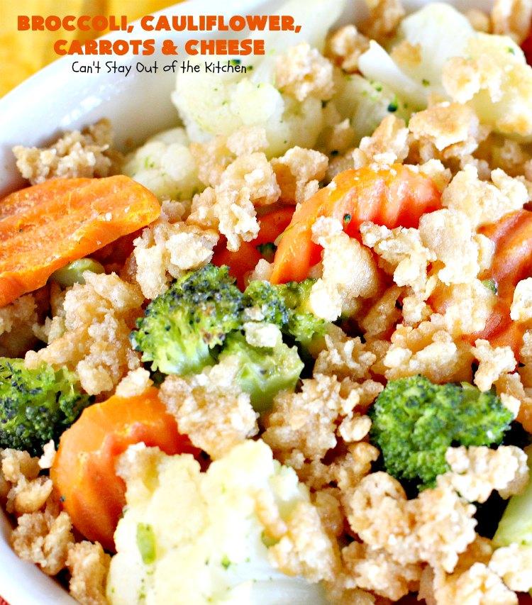 broccoli cauliflower velveeta ritz cracker casserole