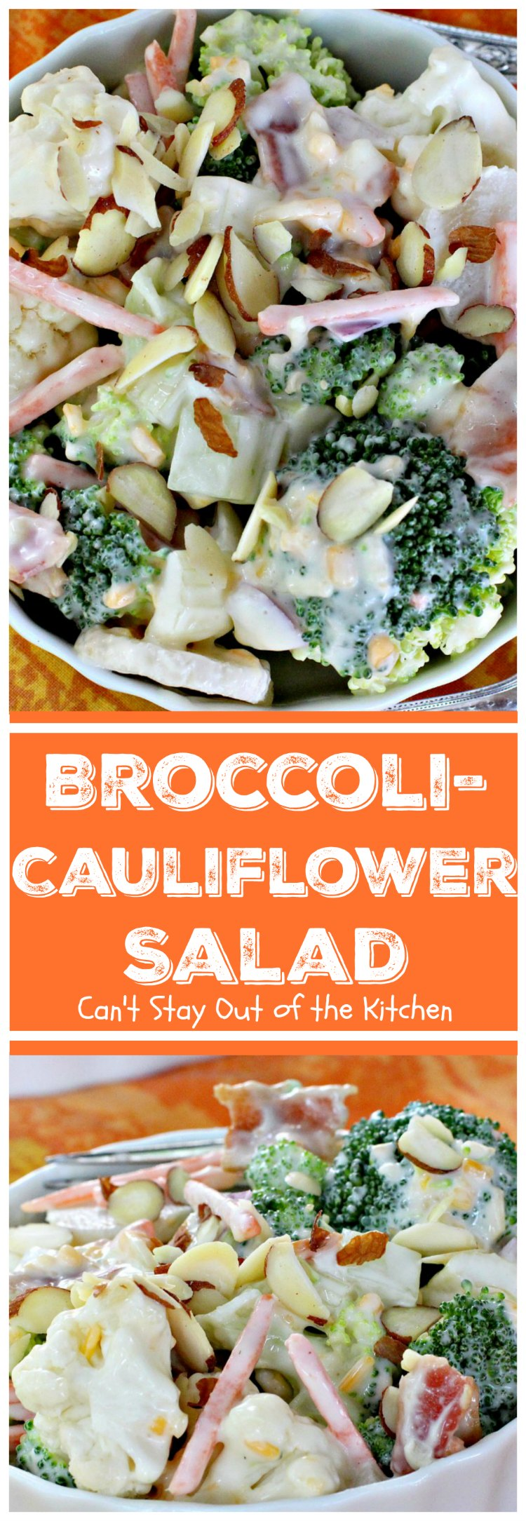 Broccoli-Cauliflower Salad | Can't Stay Out of the Kitchen
