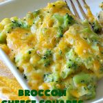 Broccoli Cheese Squares | Can't Stay Out of the Kitchen | this fantastic #GooseberryPatch #recipe is perfect for the #Thanksgiving or #Christmas #holidays. It can be whipped up & oven ready in about 5-10 minutes. It's loaded with #CheddarCheese. It received rave reviews when we served it to company. #Broccoli #SideDish #BroccoliCheeseSquares