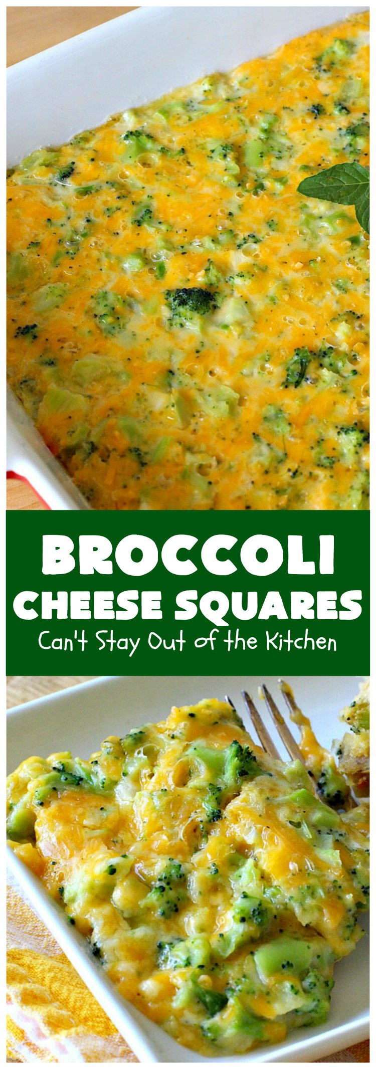 Broccoli Cheese Squares | Can't Stay Out of the Kitchen