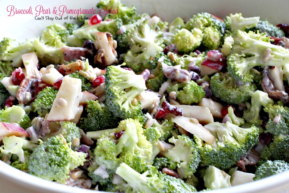 Broccoli, Pear and Pomegranate SaladCant Stay Out of the Kitchen