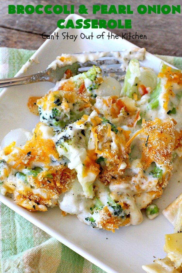 Broccoli and Pearl Onion Casserole