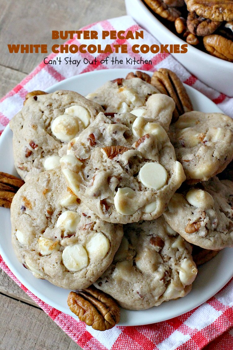 Butter Pecan White Chocolate Cookies