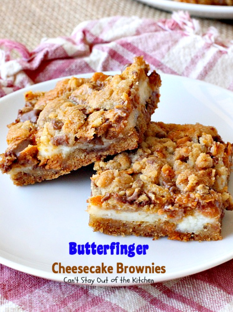 ... brownies ever! These have #Butterfinger baking bits in the #cookie