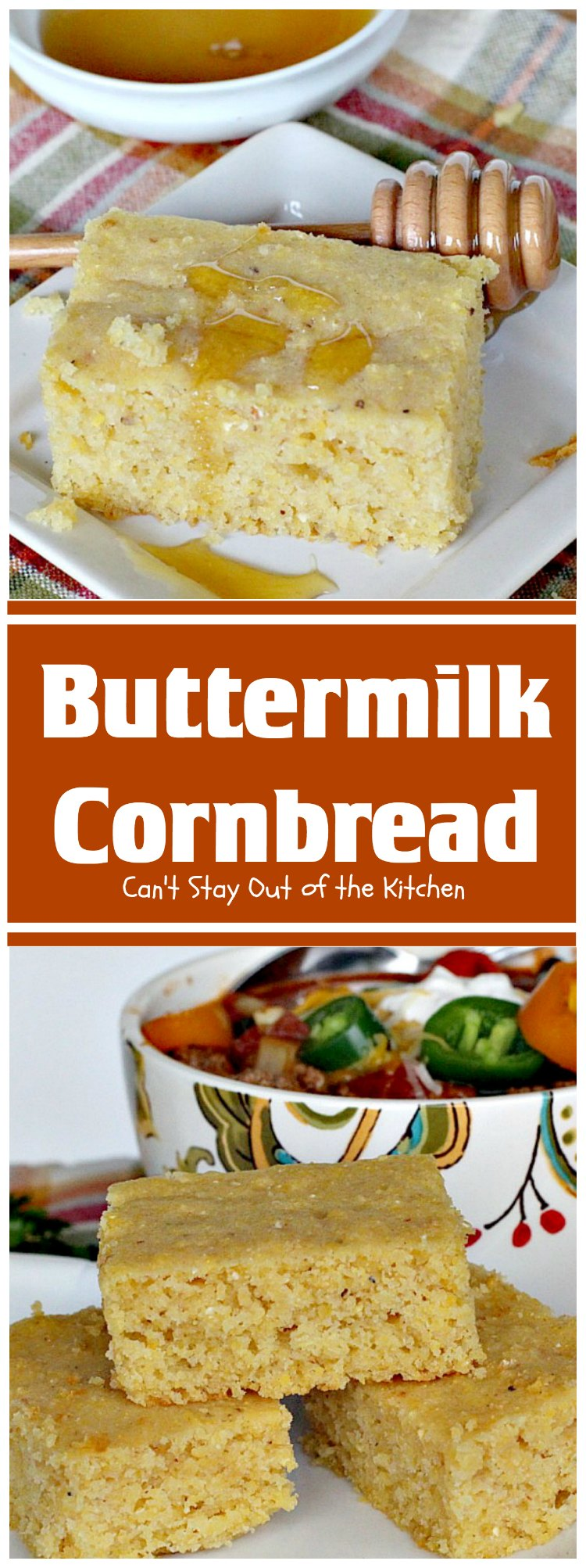 Buttermilk Cornbread | Can't Stay Out of the Kitchen